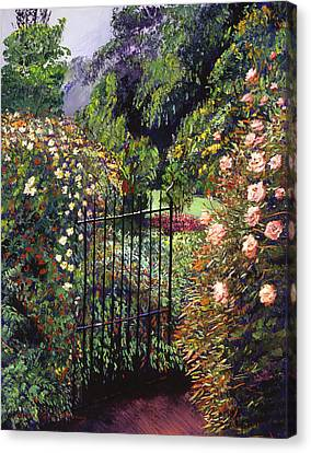 Quiet Garden Entrance Canvas Print by David Lloyd Glover