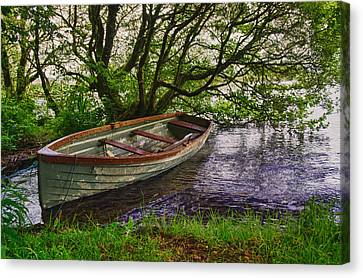 Quiet Inlet Holy Island County Clare Ireland Canvas Print by Joe Houghton