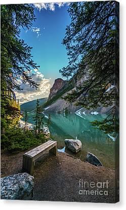 Quiet Lake Moraine Solitude Canvas Print