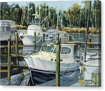 Quiet Marina Canvas Print