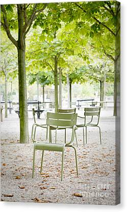 Quiet Moment At Jardin Luxembourg Canvas Print by Ivy Ho