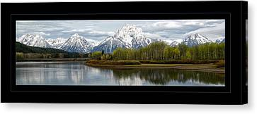 Canvas Print featuring the photograph Quiet Morning At Oxbow Bend by Jaki Miller