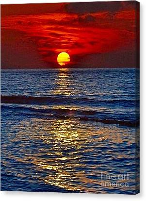 Quiet On The Ocean Canvas Print