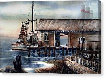 Quiet Pacific Dockside Canvas Print