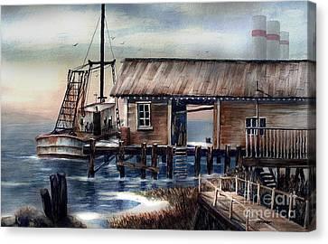 Quiet Pacific Dockside Canvas Print