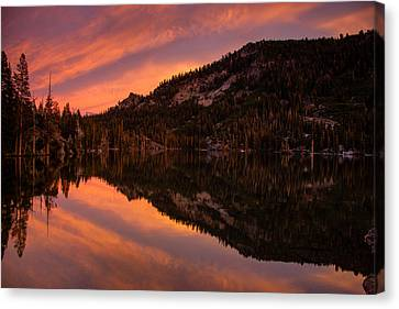 Quiet Reflection - Echo Lake Canvas Print by Dan Holmes