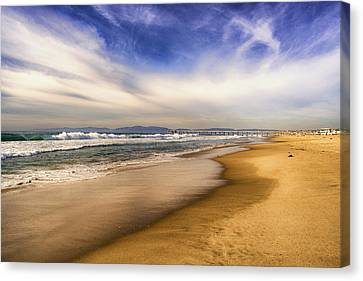 Canvas Print featuring the photograph Quiet Reflections Of Hermosa by Michael Hope
