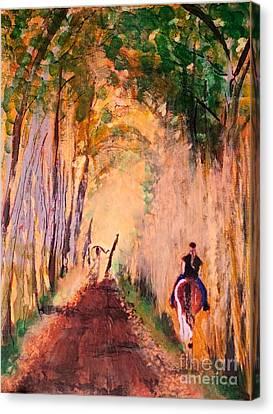 Quiet Ride Canvas Print