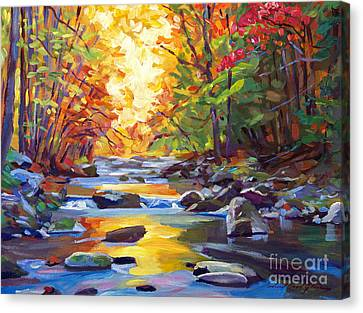 Quiet Stream Canvas Print by David Lloyd Glover