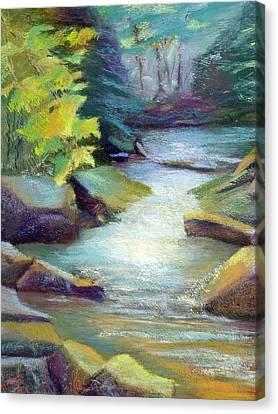 Quiet Stream Canvas Print by Melanie Miller Longshore