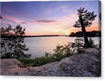 Canvas Print featuring the photograph Quiet Sunset by Jennifer Casey
