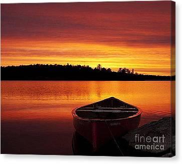 Quiet Sunset Canvas Print by Rod Jellison