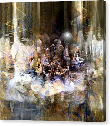 Canvas Print featuring the digital art  Quiet Thunder by Linda Sannuti