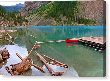 Moraine Lake I, Alberta Canvas Print by Heather Vopni