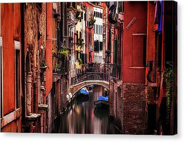 Historic Architecture Canvas Print - Quiet Venice by Andrew Soundarajan