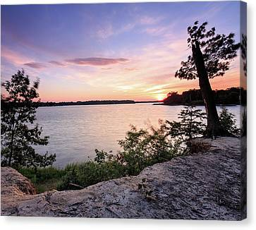 Canvas Print featuring the photograph Quiet Waters Crop by Jennifer Casey