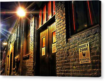 Canvas Print featuring the photograph Quiet Zone by Jessica Brawley