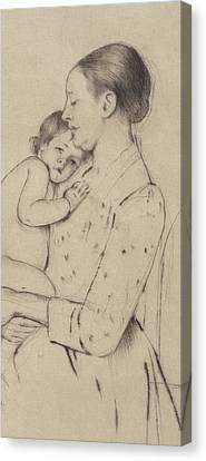 Bonding Canvas Print - Quietude by Mary Stevenson Cassatt