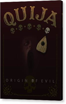 Quija, Origin Of Evil - My Movie Poster Canvas Print by Attila Meszlenyi
