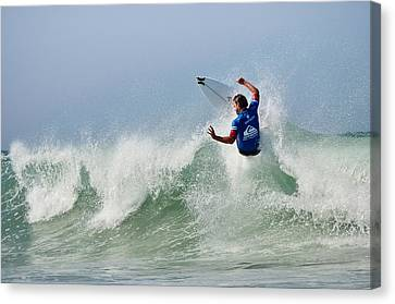Canvas Print featuring the photograph Quiksilver Pro France I by Thierry Bouriat