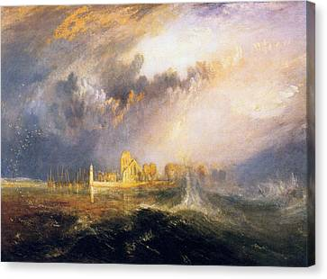 Quillebeuf, At The Mouth Of Seine Canvas Print by JMW Turner