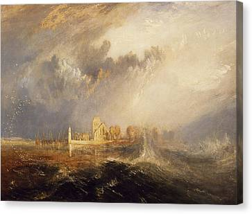 Quillebeuf  Mouth Of The Seine Canvas Print by Joseph Mallord William Turner