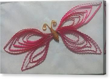Quilled Butterfly Canvas Print by Dhwaj Gaur