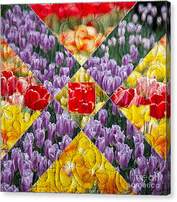 Quilt Block Flowers Canvas Print by Tom Gari Gallery-Three-Photography