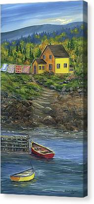 Quilt Day - Newfoundland Canvas Print by Kimberly Ropson