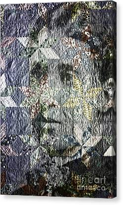 Homemade Quilts Canvas Print - Quilt Portrait by Jean OKeeffe Macro Abundance Art