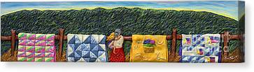 Quilted Harvest Canvas Print by Anne Klar
