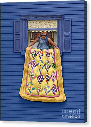Quilted Showing Canvas Print by Anne Klar