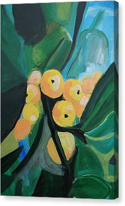 Canvas Print featuring the painting Quince by Krista Ouellette