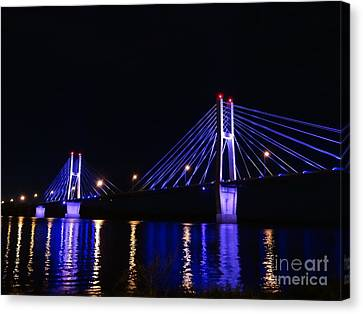 Quincy Bay View Light Reflection Canvas Print