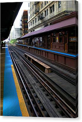 Quincy Train Station  Canvas Print by Joanne Coyle