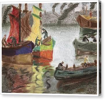 La Boca Caminito Canvas Print by Silvia Bruno