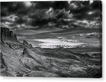 Quiraing On Isle Of Skye Scotland Canvas Print