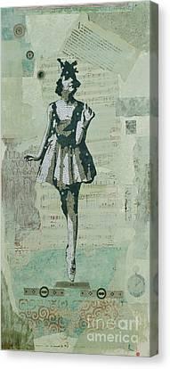 Ephemera Canvas Print - Quirky Ballerina by Laura Locke