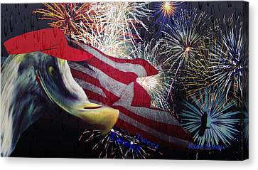 4th July Canvas Print - Quit Raining On My Parade Tweet Tweet by Mike Breau