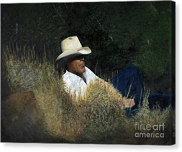Quite Contemplation Canvas Print by Anne Marie Carrington