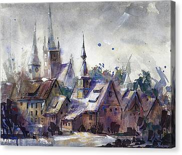 Quiet Days Canvas Print by Kristina Vardazaryan