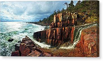 Earth Tones Canvas Print - Quoddy Head Storm by ABeautifulSky Photography by Bill Caldwell
