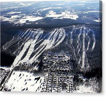 R-021 Rib Mountain Wisconsin Winter Canvas Print