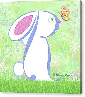 R Is For Rabbit Canvas Print