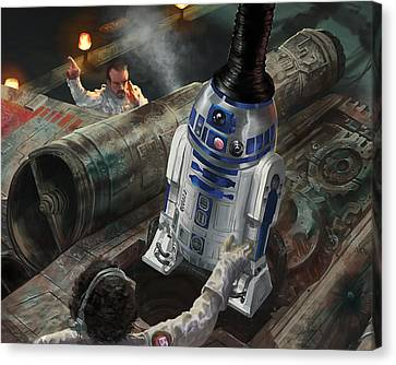 X-wing Canvas Print - R2-d2 by Ryan Barger