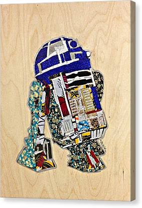 Canvas Print featuring the tapestry - textile R2-d2 Star Wars Afrofuturist Collection by Apanaki Temitayo M