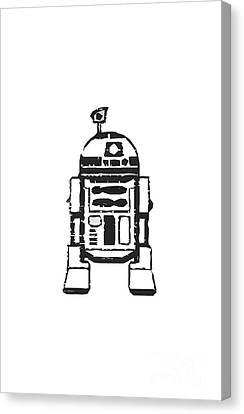 R2d2 Star Wars Robot Canvas Print by Edward Fielding