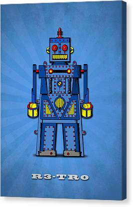 R3 Tr0 Robot Canvas Print by Mark Rogan