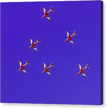 Raaf Roulettes Over Sydney Canvas Print