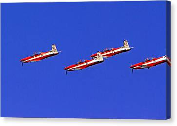 Raaf Roullettes Fly Close Canvas Print